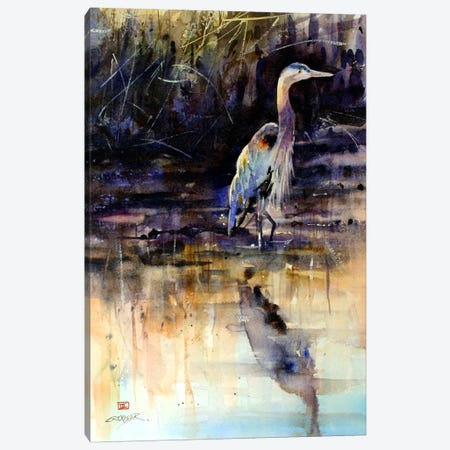Heron Canvas Print #DCR20} by Dean Crouser Art Print