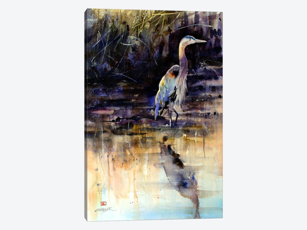 Heron by Dean Crouser 1-piece Canvas Print