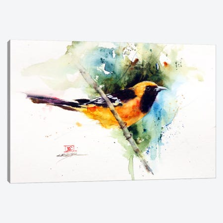 Orange Bird Canvas Print #DCR21} by Dean Crouser Canvas Print