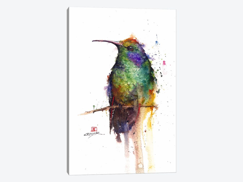 Green Bird 1-piece Canvas Print