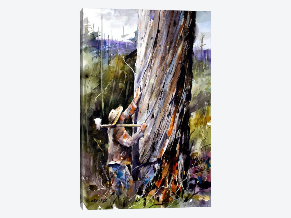 Man VS Nature by Dean Crouser 1-piece Canvas Wall Art