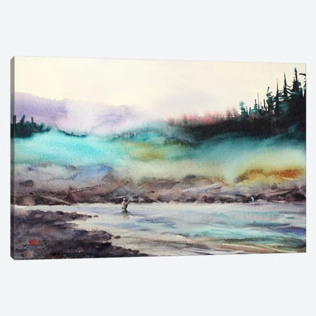 Successful Fishing Canvas Print #DCR27} by Dean Crouser Canvas Artwork