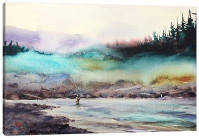 Successful Fishing Canvas Art Print