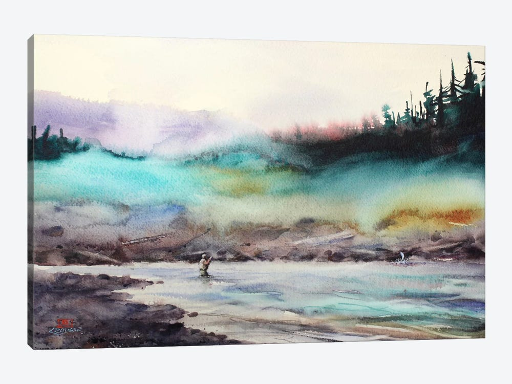 Successful Fishing by Dean Crouser 1-piece Canvas Art