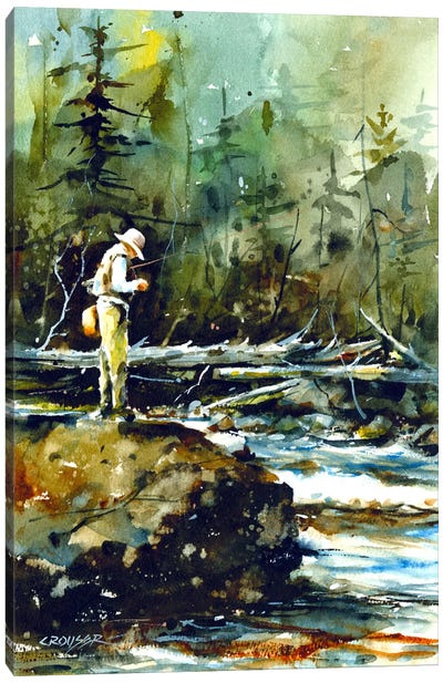 Fishing in the Wild II Canvas Print #DCR30