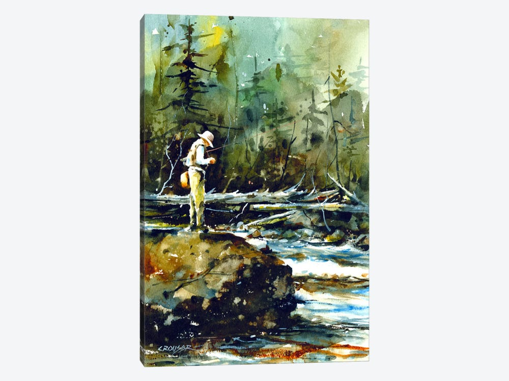 Fishing in the Wild II by Dean Crouser 1-piece Canvas Wall Art