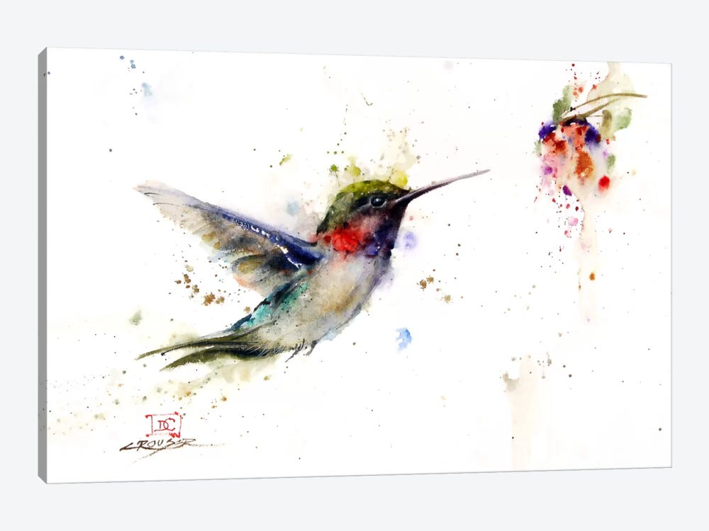 Colibri in the Moment by Dean Crouser 1-piece Canvas Art Print
