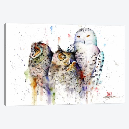 Owls Don't Sleep Canvas Print #DCR32} by Dean Crouser Canvas Artwork