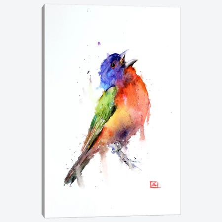 Bird (Multi-Colored) Canvas Print #DCR33} by Dean Crouser Canvas Wall Art