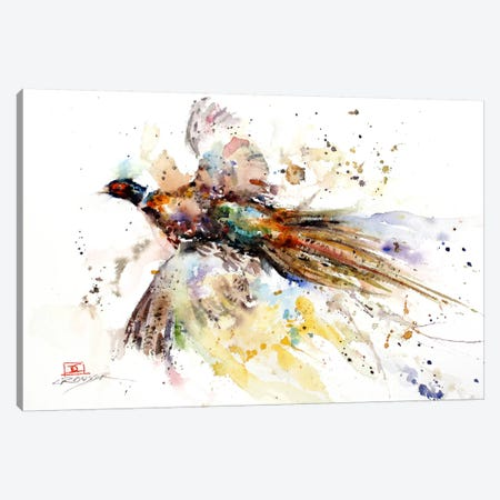 Colorful Pheasant Canvas Print #DCR37} by Dean Crouser Canvas Print