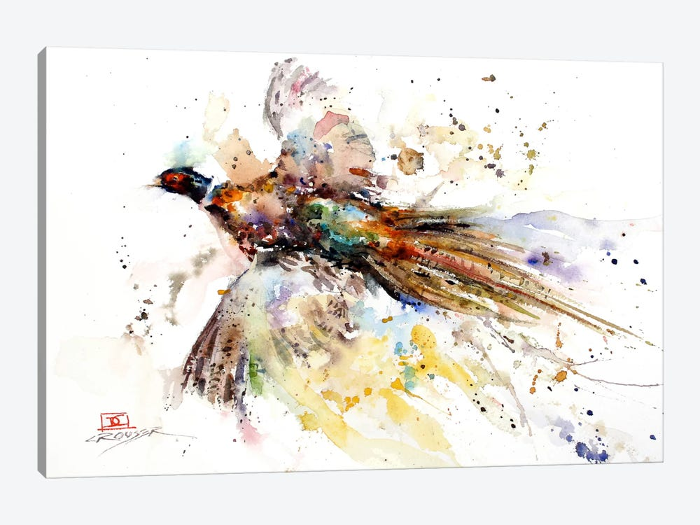 Colorful Pheasant by Dean Crouser 1-piece Canvas Print