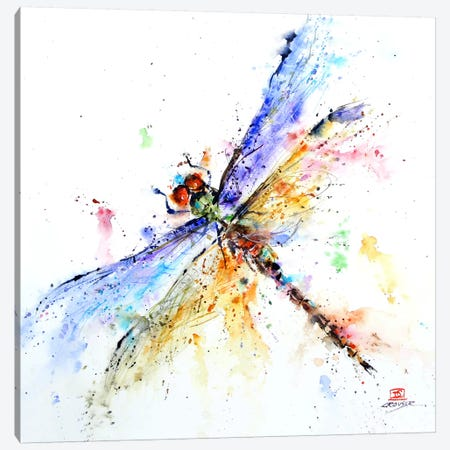 Dragonfly 3-Piece Canvas #DCR39} by Dean Crouser Canvas Artwork