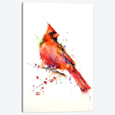 Red Bird Canvas Print #DCR3} by Dean Crouser Canvas Artwork
