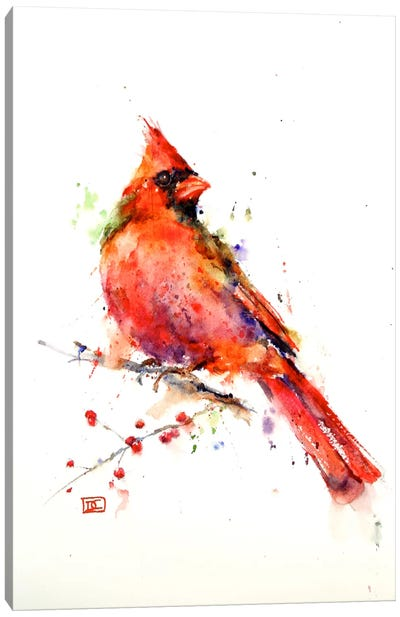 Red Bird Canvas Art Print