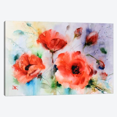 Poppies Canvas Print #DCR40} by Dean Crouser Canvas Print