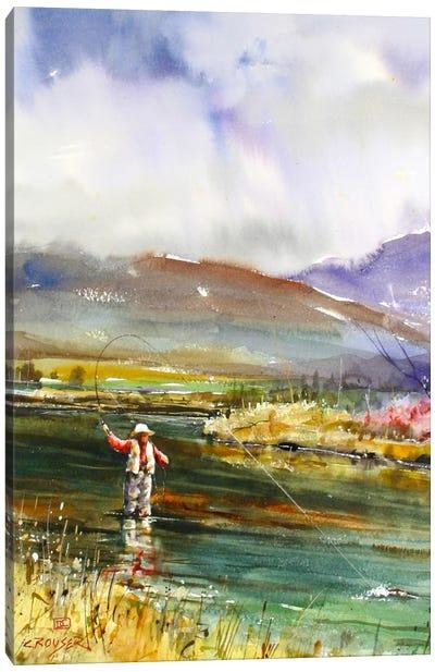 Fishing II Canvas Print #DCR42