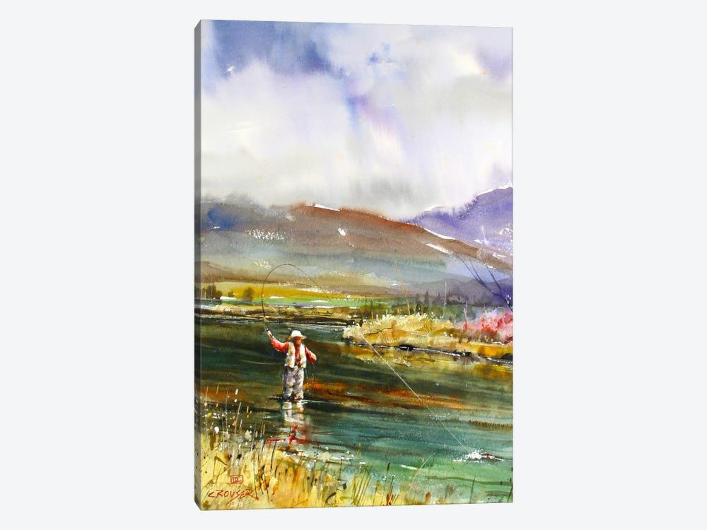 Fishing II by Dean Crouser 1-piece Canvas Print