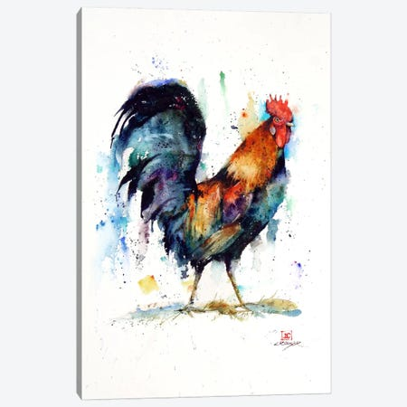 Rooster Canvas Print #DCR46} by Dean Crouser Canvas Artwork
