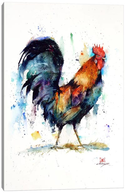 Rooster Canvas Print #DCR46