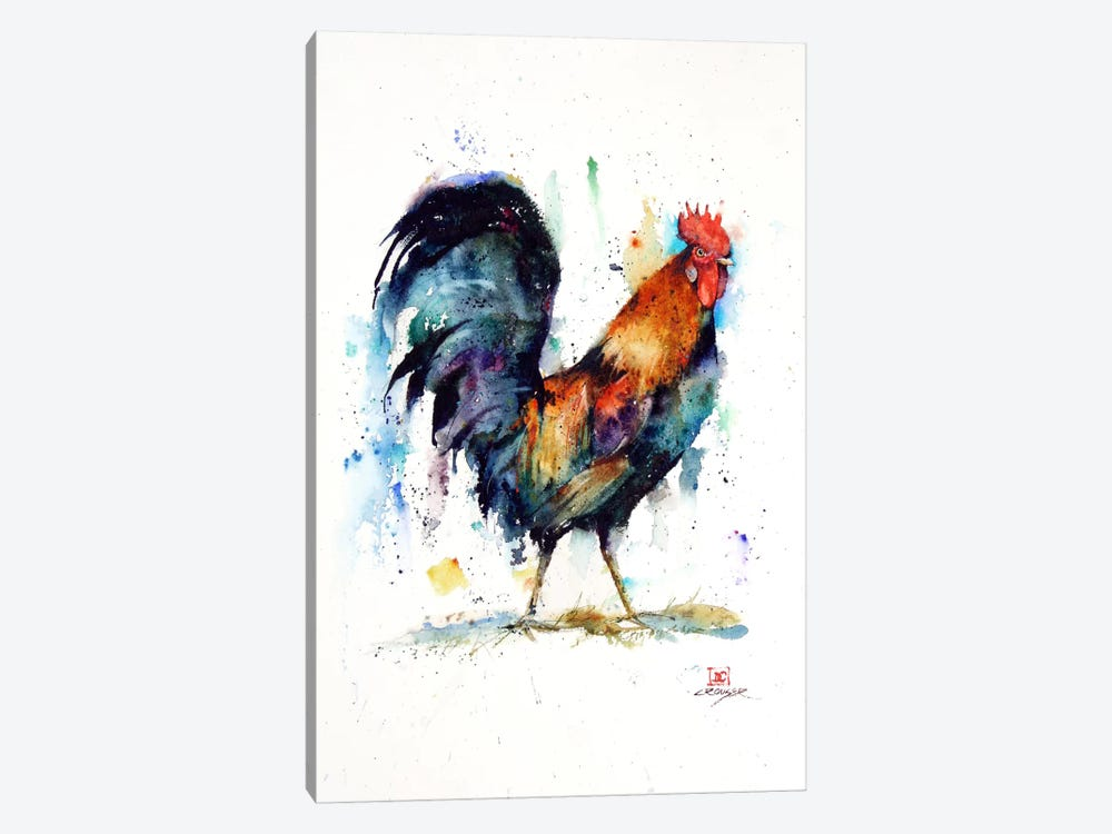 Rooster by Dean Crouser 1-piece Canvas Print