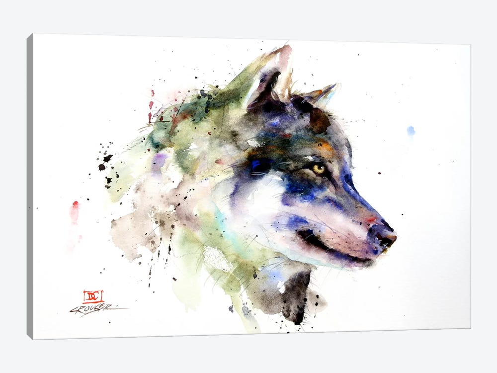 Wolf by Dean Crouser 1-piece Art Print