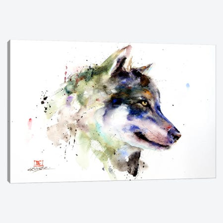 Wolf Canvas Print #DCR48} by Dean Crouser Canvas Print