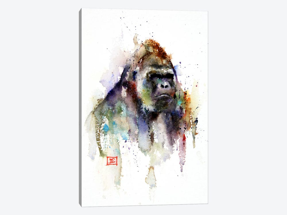 Gorilla by Dean Crouser 1-piece Canvas Artwork