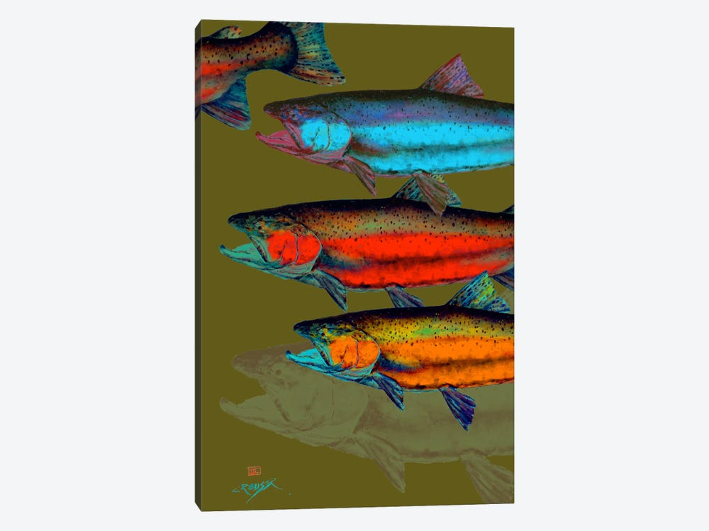 Multi-Colored Fish by Dean Crouser 1-piece Canvas Art Print