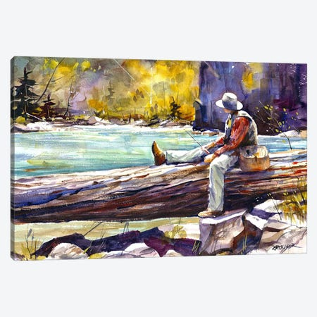 Fishing Time Canvas Print #DCR53} by Dean Crouser Canvas Artwork