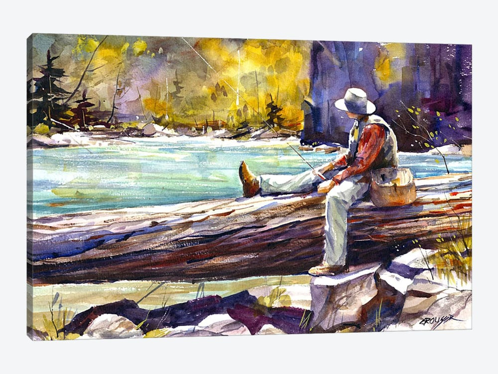Fishing Time by Dean Crouser 1-piece Canvas Art Print