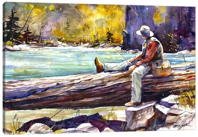 Fishing Time Canvas Art Print