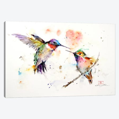 Hummingbirds Canvas Print #DCR56} by Dean Crouser Art Print
