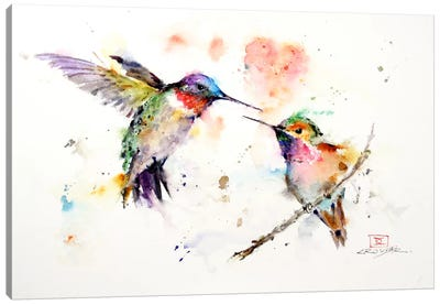 Hummingbirds Canvas Print #DCR56