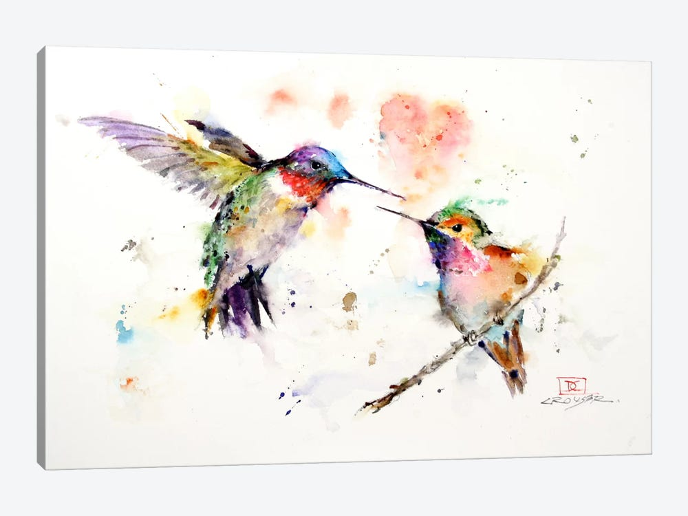 Hummingbirds by Dean Crouser 1-piece Canvas Artwork