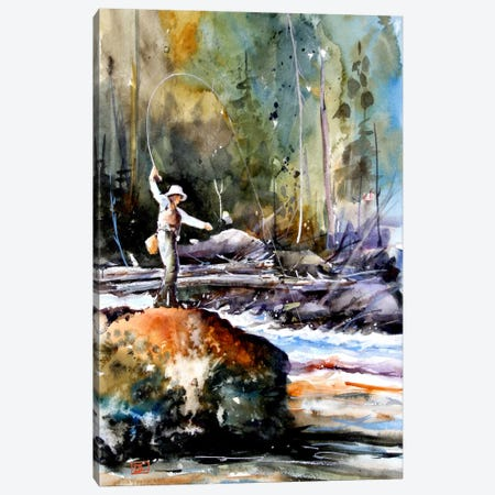 Fishing in the Wild Canvas Print #DCR57} by Dean Crouser Canvas Art Print