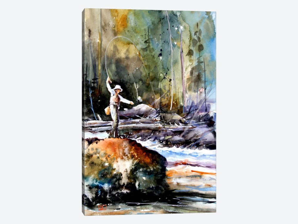 Fishing in the Wild by Dean Crouser 1-piece Art Print