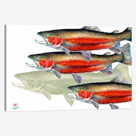 Bloody Fish 3-Piece Canvas #DCR58} by Dean Crouser Canvas Wall Art