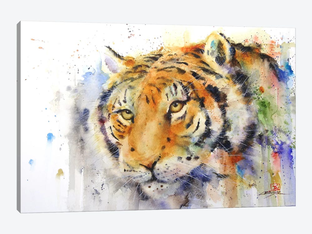 Tiger by Dean Crouser 1-piece Canvas Print