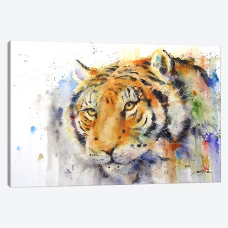 Tiger Canvas Print #DCR59} by Dean Crouser Canvas Artwork