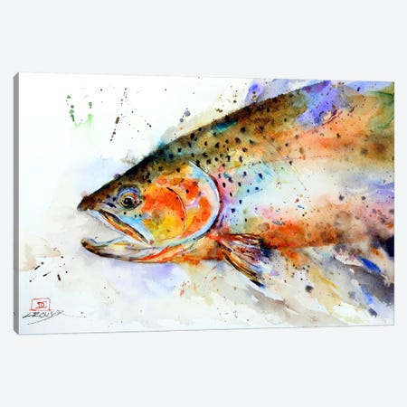 Fish (Multi-Color) Canvas Print #DCR5} by Dean Crouser Canvas Print
