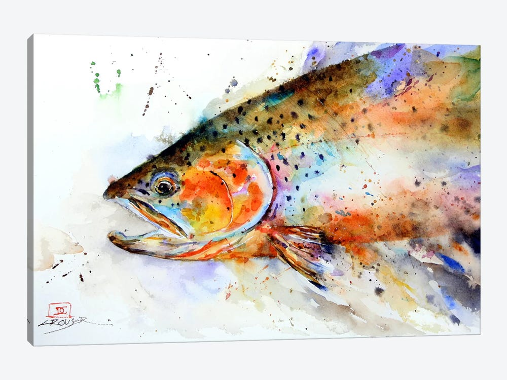 Fish (Multi-Color) by Dean Crouser 1-piece Canvas Wall Art