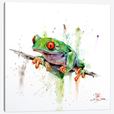 Frog Canvas Print #DCR61} by Dean Crouser Canvas Art Print