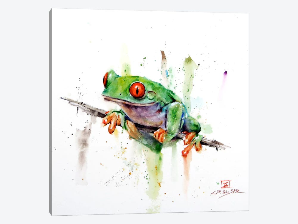 Frog by Dean Crouser 1-piece Canvas Artwork