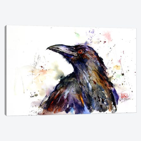 Crow Canvas Print #DCR62} by Dean Crouser Art Print