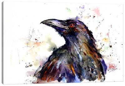 Crow Canvas Art Print