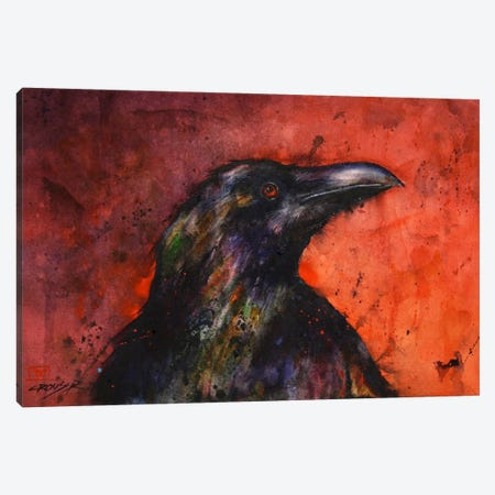Crow II Canvas Print #DCR63} by Dean Crouser Art Print