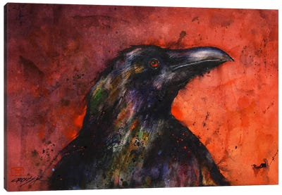 Crow II Canvas Art Print