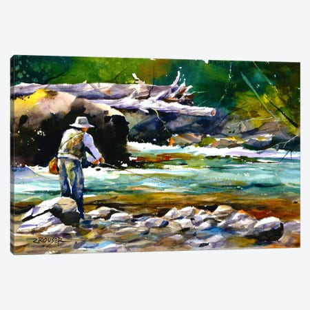 Fishing Canvas Print #DCR69} by Dean Crouser Canvas Art Print