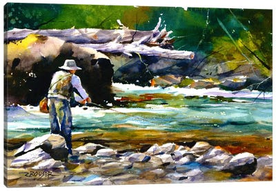 Fishing Canvas Art Print