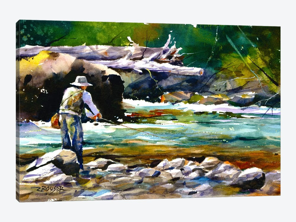 Fishing by Dean Crouser 1-piece Canvas Artwork